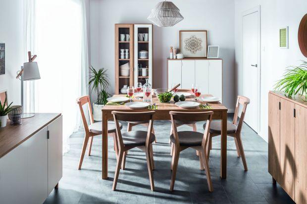 Jadalnia z rozkładanym stołem - sposób na małe wnętrze