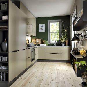 Zabudowa kuchenna przechodzi w estetyczny regał. Fot. Black Red White