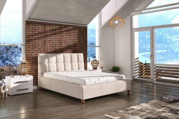 """Łóżko """"Aston"""" charakteryzuje się lekką, subtelną formą. Znakomicie sprawdzi się w sypialniach urządzonych w stylu skandynawskim, retro albo wielkomiejskim. Doskonale pasuje też do soft-loftów."""