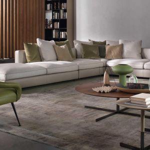 Poduchy oparciowe w kolorach dopasowanych do całej sofy. Fot. Flexform/Studio Forma 96