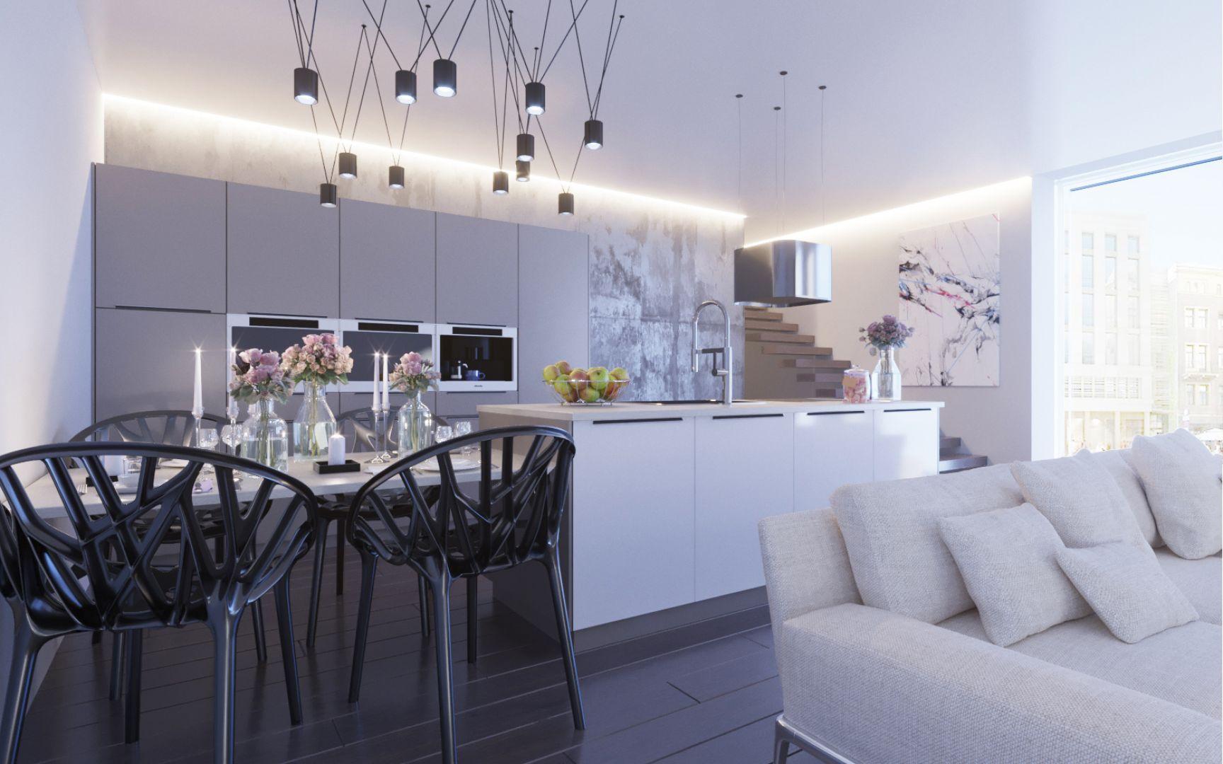 Odpowiednie dodatki pozwolą stworzyć kuchnię w stylu glamour. Fot. Salony Agata