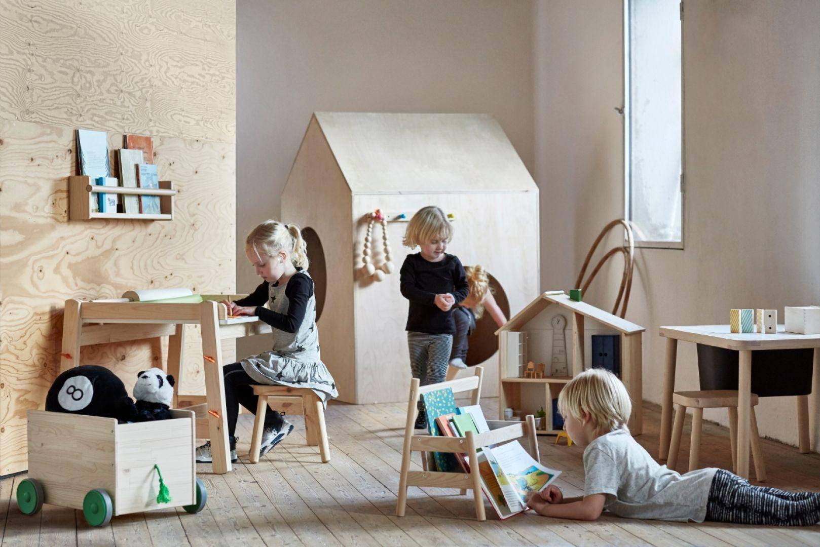 Kolekcja mebli dziecięcych z drewna - Flisat. Fot. IKEA