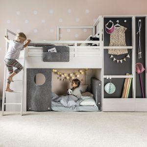 Łóżko piętrowe z szafą z kolekcji Nest. Fot. Vox