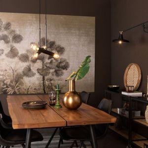 Czarne czy granatowe meble wyeksponuj na przykład na bordowym bądź rdzawym tle. Fot. Dutchhouse