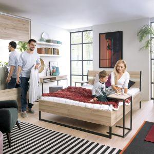 """Łóżko z kolekcji """"Gamla"""" firmy Black Red White. Fot. Black Red White"""