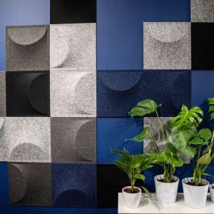 "Panele akustyczne ""Eclipse"" firmy Marbet Style. Projekt: Tomasz Augustyniak. Fot. Marbet Style"