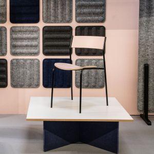 """Krzesło i stół z serii """"Sharck"""" firmy Marbet Style. Projekt: Tomasz Augustyniak. Fot. Marbet Style"""