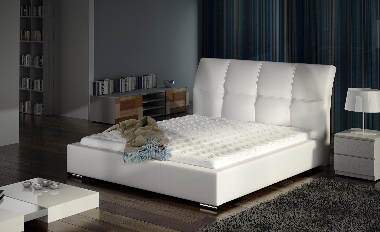 Łóżko tapicerowane Emilio marki Comforteo. Fot. Comforteo