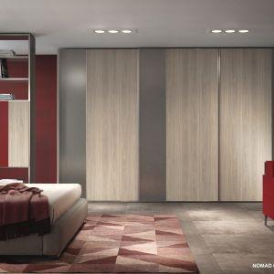 """Aranżacja sypialni, w której wykorzystano dekor """"Nomad"""" (Interprint). Fot. Interprint"""