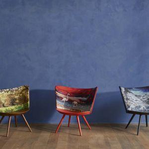 """Krzesła z kolekcji """"Embroidery"""" firmy Cappellini. Projekt: Johan Lindstén. Fot. Cappellini"""
