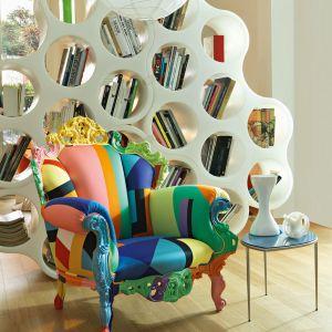 "Fotel ""Proust geometrica"" firmy Cappellini. Projekt: Alessandro Mendini. Fot. Cappellini"