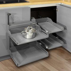 Tylko wysokiej jakości akcesoria meblowe zapewnia komfort korzystania z szafek i szuflad w kuchni. Fot. Stolzen