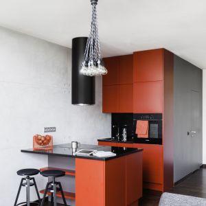Wnętrze w stylu loftowym na warszawskim Mokotowie (kuchnia). Projekt: Decoroom. Fot. Decoroom