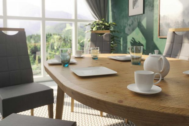 Solidny stół z odpowiednio dobranym systemem rozkładania, wygodne, tapicerowane krzesła i kolory, które pozwolą optycznie powiększyć przestrzeń - to idealne rozwiązania do jadalni w niewielkim mieszkaniu.