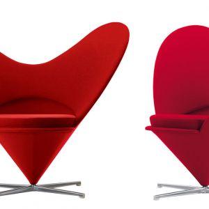 "Fotele ""Heart Cone"" firmy Vitra. Projekt: Werner Panton. Fot. Vitra"