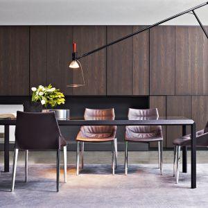 Duży stół to nie tylko miejsce na rodzinne spotkania, ale też domowe biuro. Fot. Molteni