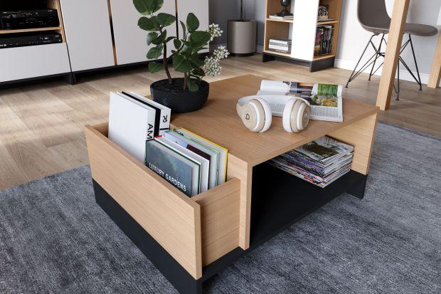 Niewielkie szufladki, ukryte półki, zamykane schowki - takie elementy sprawiają, że niepozorny stolik kawowy staje się meblem wielofunkcyjnym i można go wykorzystać do przechowywania drobnych przedmiotów.