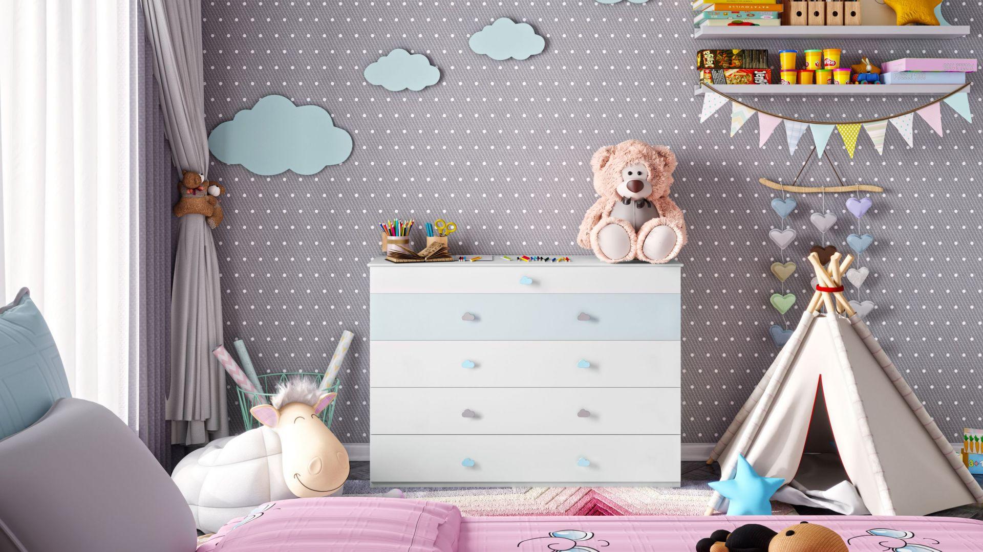 Kolorowe uchwyty do mebli dziecięcych. Fot. GTV