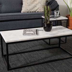 Stolik z marmurowym blatem marki Zuiver
