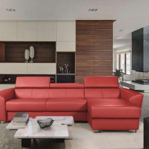Sofa Andria w czerwonej skórze. Fot. Meblomak