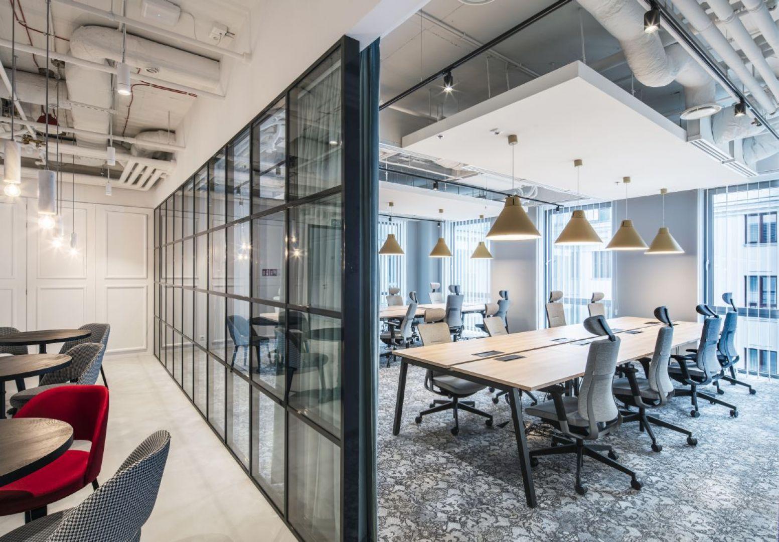 Biuro coworkingowe Solutions Rent. Projekt: The Design Group. Fot. Solutions Rent