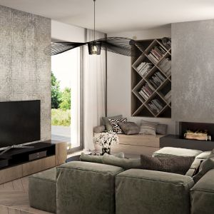 Wnętrze Corner House (salon). Projekt: 3DProjekt. Fot. 3DProjekt