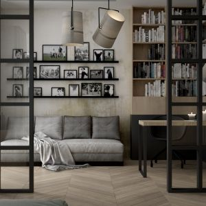 Wnętrze Corner House (gabinet). Projekt: 3DProjekt. Fot. 3DProjekt