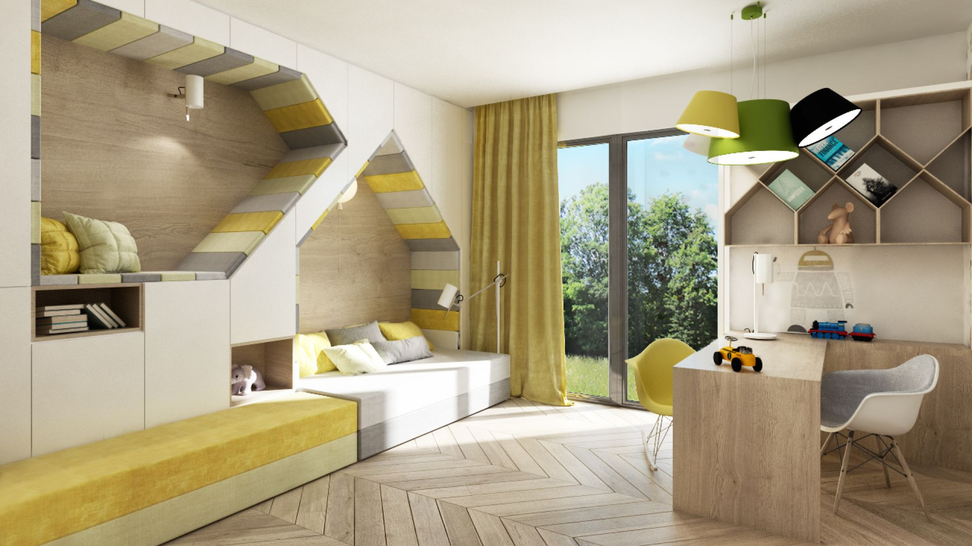Wnętrze Corner House (pokój dziecka). Projekt: 3DProjekt. Fot. 3DProjekt