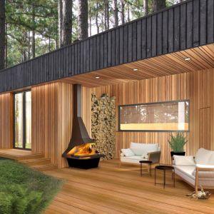 Wnętrze domu Moody-Woody (taras). Projekt: 3DProjekt. Fot. Materiały prasowe