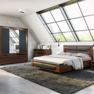 """Łóżko z kolekcji """"Riva"""" firmy Mebin. Fot. Mebin"""