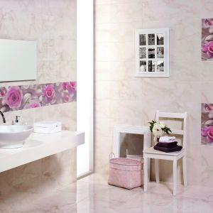 Płytki Vermont marki Pamesa Ceramica oferują modne zestawienie jasnych odcieni z fotografiami róż. Fot. Pamesa Ceramica