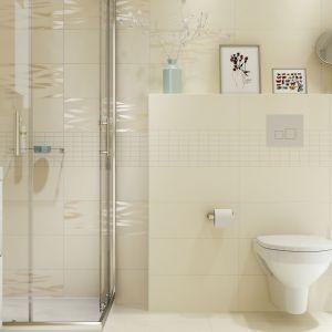 Wnęka prysznicowa to miejsce w łazience poddawane najbardziej intensywnemu zachlapaniu, czyli tzw. strefa mokra. Na zdj. kolekcja płytek Gavo marki Cersanit. Fot. Certsanit
