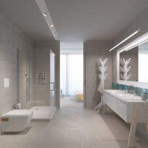 Efektowne i trwałe okładziny oraz estetyczny wygląd fug to gwarancja, że łazienka zachowa elegancki wygląd na lata. Na zdj. kolekcja płytek Cuban/Cube marki Opoczno. Fot. Opoczno