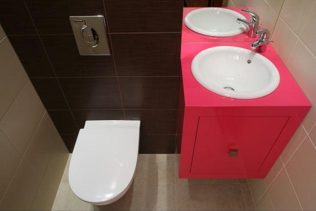 Elegancka toaleta dla gości – z oryginalną szafką na zamówienie