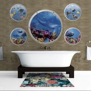 Ceramica Latina Mural Poseidon to piękny łazienkowy obraz magicznego, podwodnego świata. Fot. Ceramika Latina