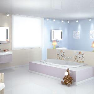 Vichy Jet marki ElMolino to kolekcja płytek do łazienki z dekorami dla dzieci. Fot. ElMolino