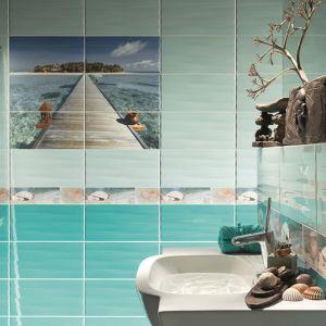 Tubądzin Azure to seria płytek ceramicznych z pięknymi, wielkoformatowymi dekorami. Fot. Tubądzin