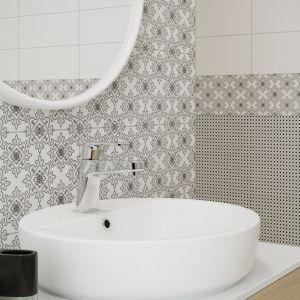 Kolekcja Black&White marki Opoczno z dekorem Pattern o wyrafimowanym wzorze - szyk lat 50-tych XX wieku. Fot. Opoczno