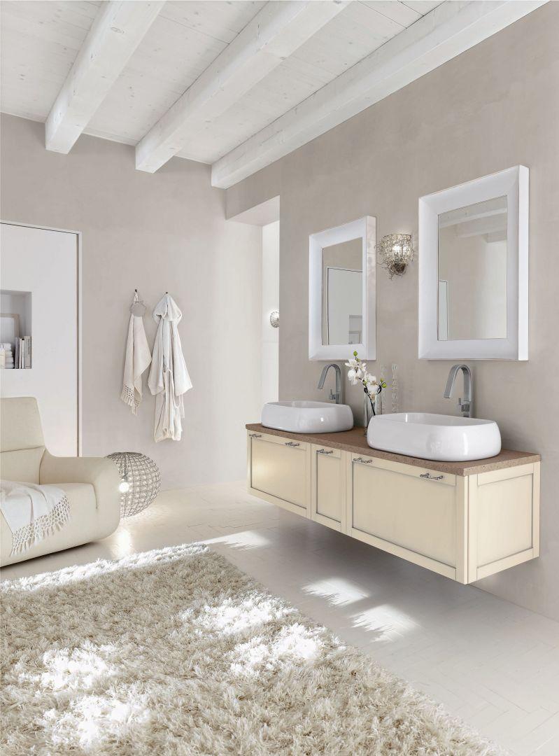 Nowoczesne meble pochodzą z serii marki Arcom Dali 10, łazienka w bieli zachwyca lekkością. Fot. Arcom