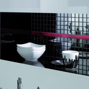 Elementem uzupełniającym kolekcję Opp! Ceramstic jest elegancka czarna mozaika szklana. Fot. Ceramstic