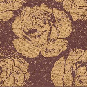Z kolekcji Rosea Paradyż - jak odciśnięte na surowym płótnie złote kwiaty. Barokowe inspiracje w nowoczenym wydaniu. Fot. Paradyż