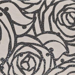 Atutem kolekcji Moderna marki Cersanit jest awangardowy kwiatowy dekor. Graficzny rysunek pąku róży z biżuteryjną, szklaną aplikacją. Fot. Cersanit