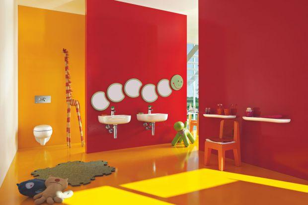 Łazienka dla dzieci zaskakuje klimatem rodem z ulubionej bajki. Jest pełna ciepłych kolorów, zabawek, wyposażona w fantazyjną ceramikę dlanajmłodszych.