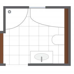 Powierzchnia łazienki: ok. 7 m kw.