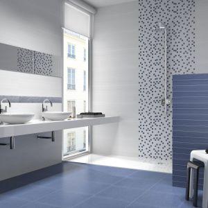 Dekoracyjne płytki z serii Blues marki Metropol przyciągają wzrok w łazience. Fot. Metropol