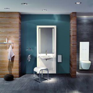 S 50 firmy Hewi oferuje umywalki i moduły WC, w których istnieje możliwość dopasowania ich wysokości do indywidualnych potrzeb poszczególnych użytkowników. Fot. Hewi