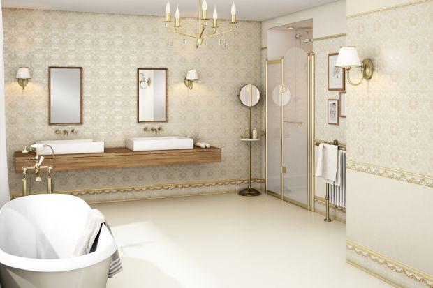 Płytki w złotym połysku – najpiękniejsze kolekcje do łazienki