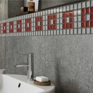 Modne szarości ścian podkreślają minimalistyczny styl, na zdjęciu: płytki Monti marki Cersanit. Fot. Cersanit