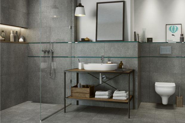 Serie płytek ceramicznych do łazienki często inspirowane są lubianym i wykorzystywanym przez projektantów wnętrz betonem architektonicznym.
