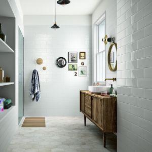 Jak białe cegiełki - płytki ceramiczne Mellow&Clays firmy Marazzi. Fot. Marazzi